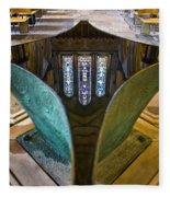Stained Glass-window Reflection Fleece Blanket