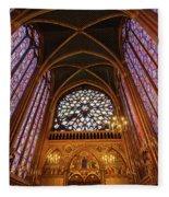 Windows Of Saint Chapelle Fleece Blanket