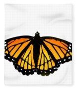 Stained Glass Wings Fleece Blanket