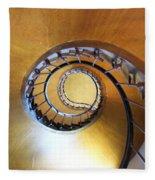 Staircase At Azay Le Rideau Fleece Blanket