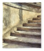 Staircase At Pitti Palace Florence Pencil Fleece Blanket