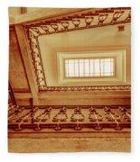 Staircase In Brown Fleece Blanket