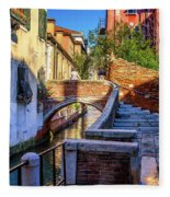 Staircase To Bridge In Venice_dsc1642_03012017 Fleece Blanket