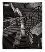 Stairs In The Markethall  Fleece Blanket