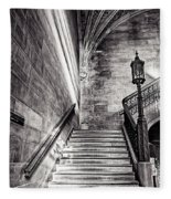 Stairs Of The Past Fleece Blanket