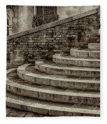 Stairs To Canal Bridge Venice_dsc1637_03012017  Fleece Blanket