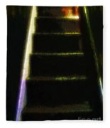 Stairs To The Madwoman's Attic Fleece Blanket