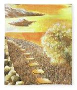 Stairs Towards The Horizon Fleece Blanket