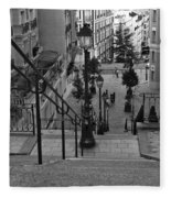 Stairway On Montmartre Fleece Blanket