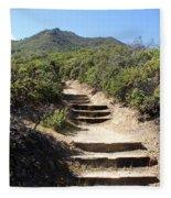 Stairway To Heaven On Mt Tamalpais Fleece Blanket