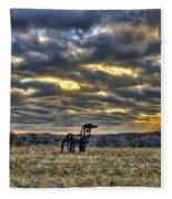 Stairways To Heaven Winter Sunrise The Iron Horse Art Fleece Blanket
