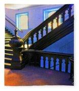Stairwell Of Color Fleece Blanket