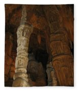 Stalacmites In Luray Caverns Va  Fleece Blanket