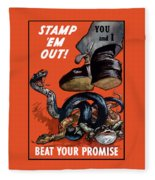 Stamp Em Out - Beat Your Promise Fleece Blanket