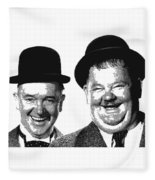 Stan And Ollie - Parallel Hatching Fleece Blanket