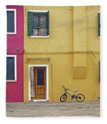 Standing By For A Quick Get Away In Burano Italy Fleece Blanket