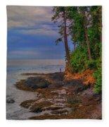 Standing By The Sea Fleece Blanket