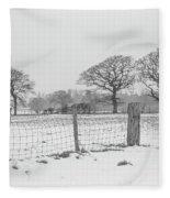 Standing In The Snow Fleece Blanket