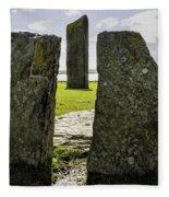 Standing Stones Of Stenness Fleece Blanket