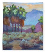 Standing Tall At Thousand Palms Fleece Blanket