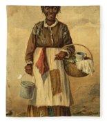 Standing Woman Fleece Blanket