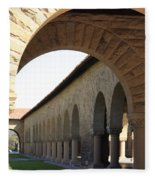 Stanford Memorial Court Arches I Fleece Blanket