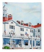 Stanley Hotel Two Fleece Blanket