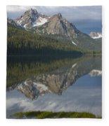 Stanley Lake Reflections Fleece Blanket