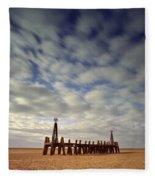 St.annes Beach, Lancashire, England Fleece Blanket