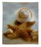 Star And Shells Fleece Blanket