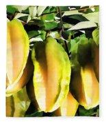 Star Apple Fruit On Tree Fleece Blanket