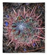 Star Cactus Pink-aqua-blue Fleece Blanket