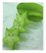 Star Fruit Is Content Of Vitamin A And C Fleece Blanket