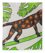 Star. Monkey  Fleece Blanket