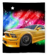 Star Of The Show - Mustang Gtr Fleece Blanket