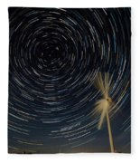 Star Trail In Hays, Ks Fleece Blanket