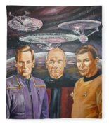 Star Trek Tribute Enterprise Captains Fleece Blanket