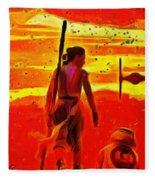 Star Wars 8 Last Jedi - Pa Fleece Blanket