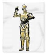 Star Wars C-3po Droid Tee Fleece Blanket