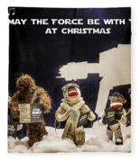 Star Wars Christmas Card Fleece Blanket