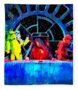 Star Wars Empire Last Supper - Pa Fleece Blanket