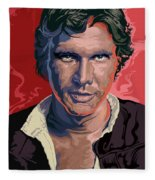 Star Wars Han Solo Pop Art Portrait Fleece Blanket