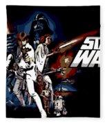 Star Wars Movie Poster Fleece Blanket