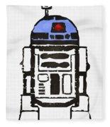 Star Wars R2d2 Droid Robot Fleece Blanket