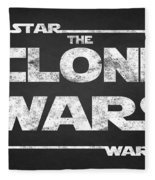 Star Wars The Clone Wars Chalkboard Typography Fleece Blanket