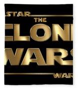 Star Wars The Clone Wars Typography Fleece Blanket
