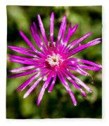 Starburst Of The Wildflowers Fleece Blanket