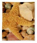 Starfish And Seashells Fleece Blanket