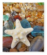 Starfish Art Prints Star Fish Seaglass Sea Glass Fleece Blanket