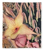 Starfish Cactus Fleece Blanket